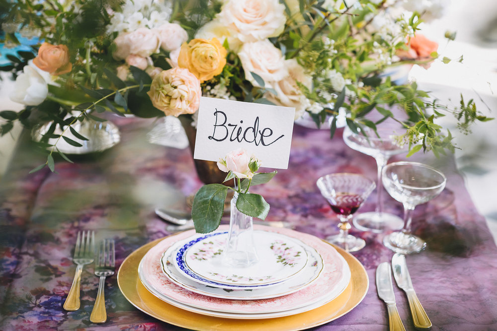Blush wedding table decor