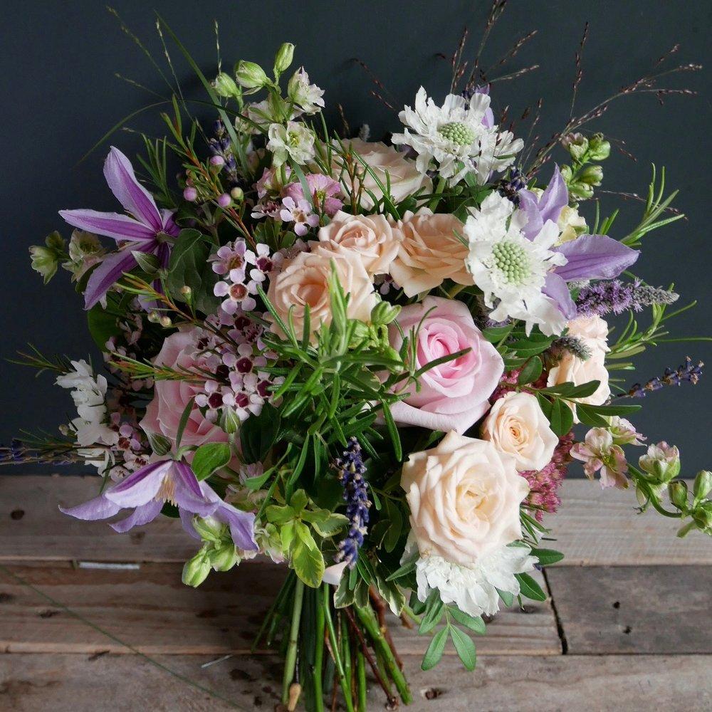 Spring pastels wedding bouquet