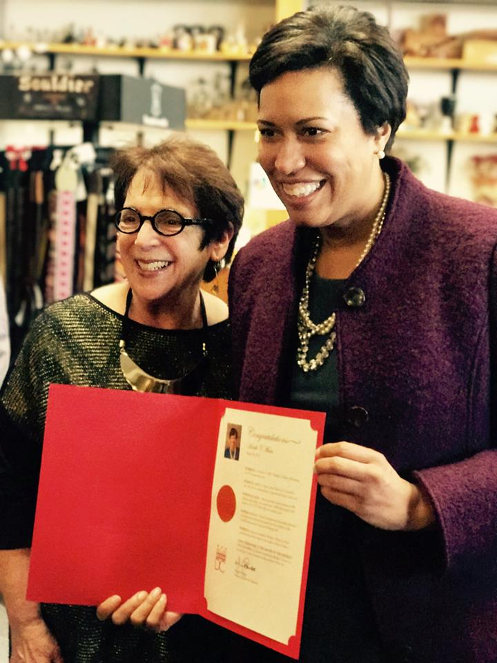 Myrna and D.C. Mayor Muriel Bowser