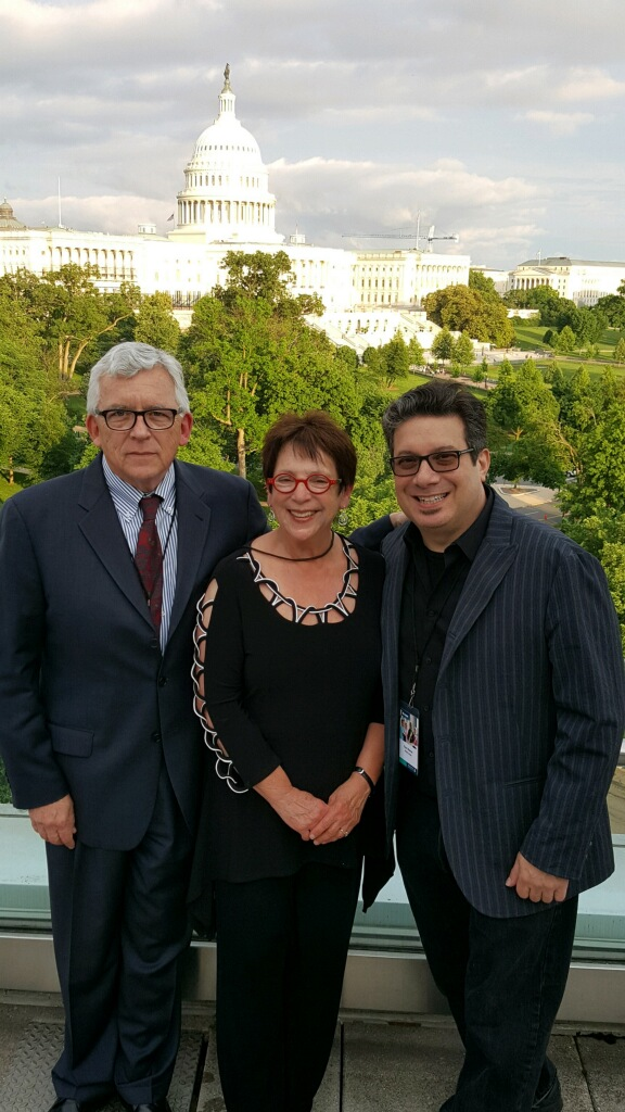 Myrna with Leo Coco (l) and Alfred Music Publisher Ron Manus getting ready to lobby Congress for music education as part of the NAMM Fly-In. Leo is NAMM's chief lobbyist.