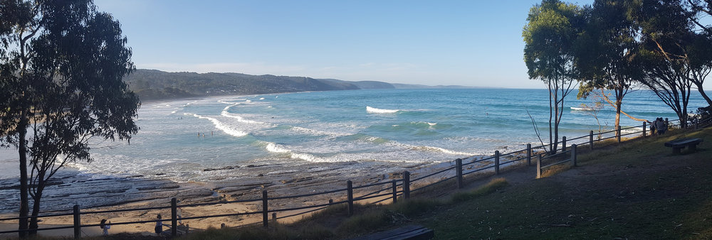 Our beautiful starting point in Lorne