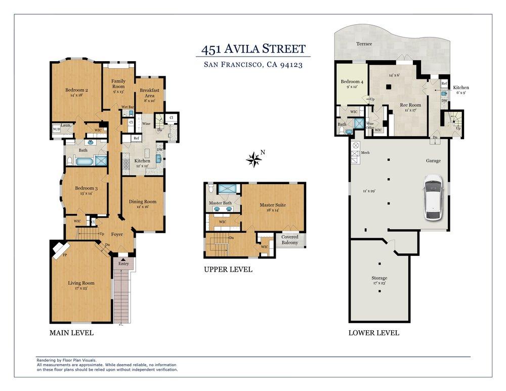 451 Avila Floor Plan