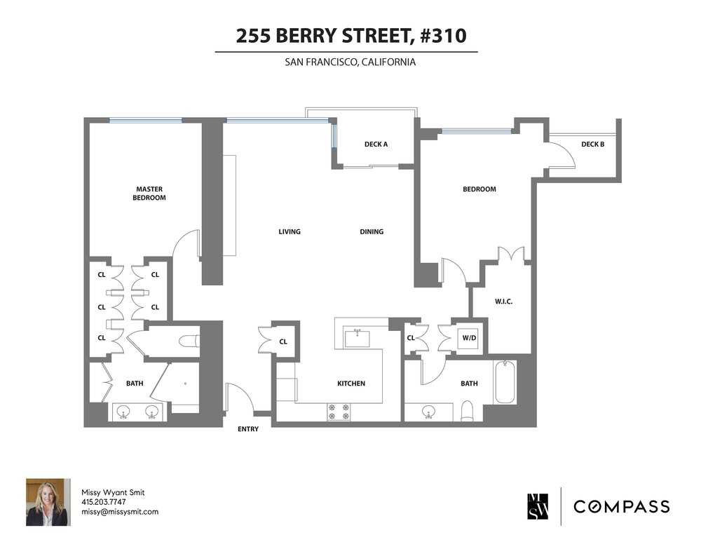 255 Berry #310 Floor Plan