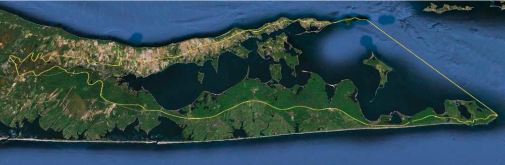 Peconic Estuary Watershed Perimeter