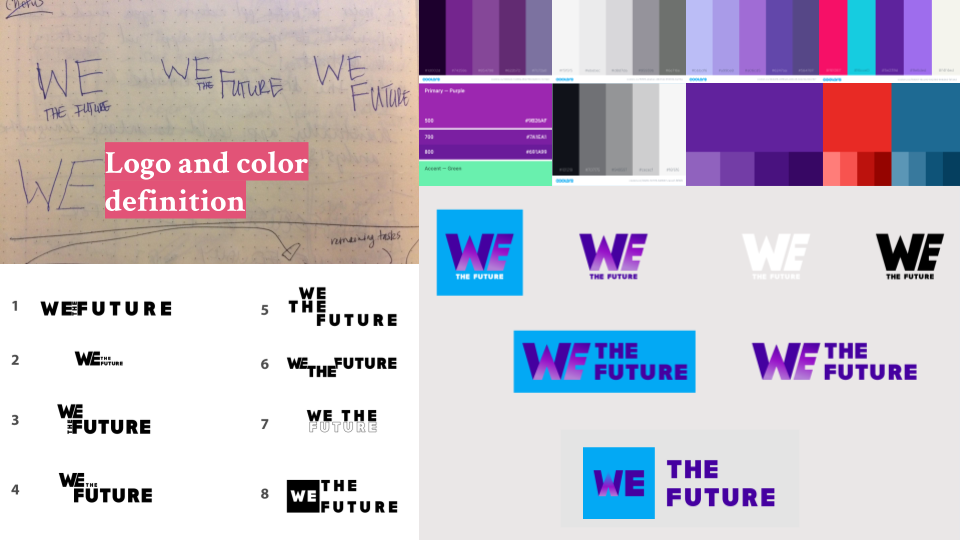While many competitors in the space utilize red, white, or blue, our brand took a less Americana approach with the mixing of red and blue for purple.