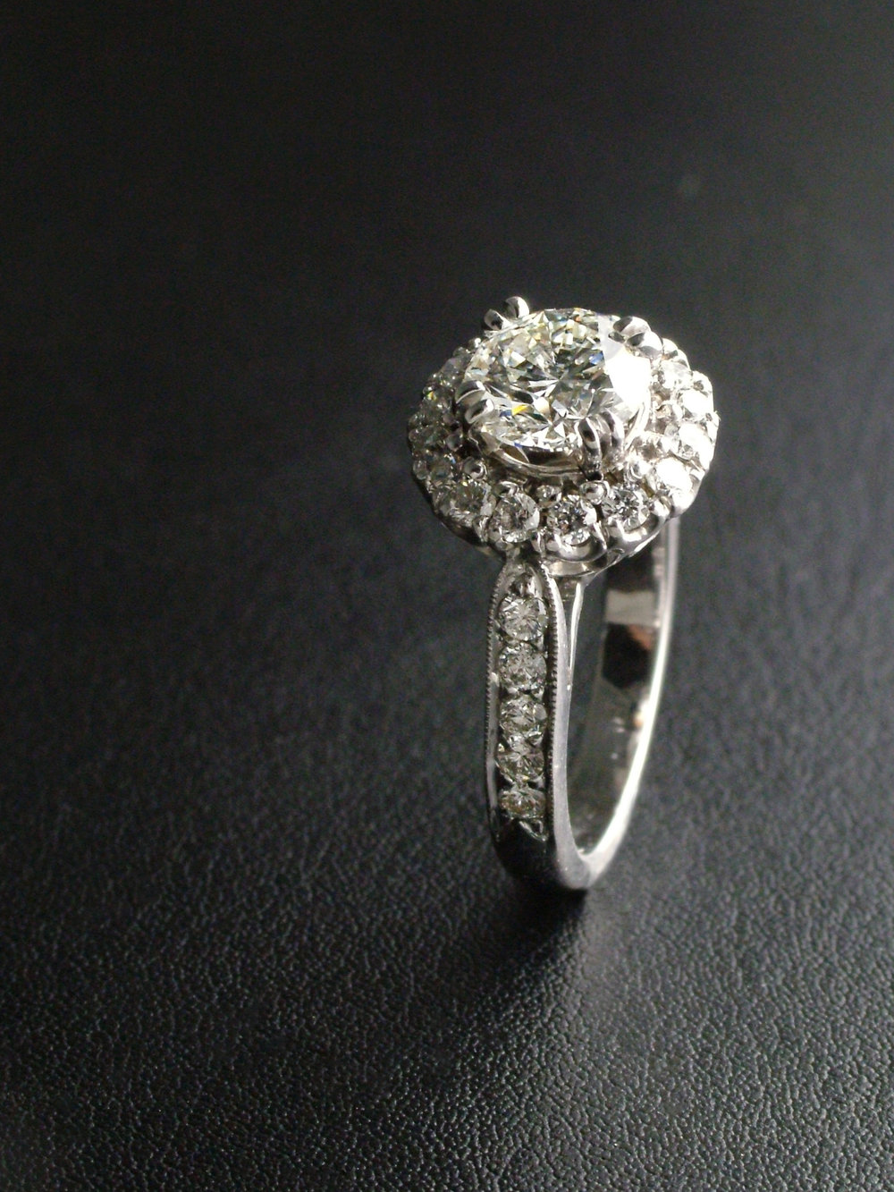 Vintage Engagement Ring with Halo