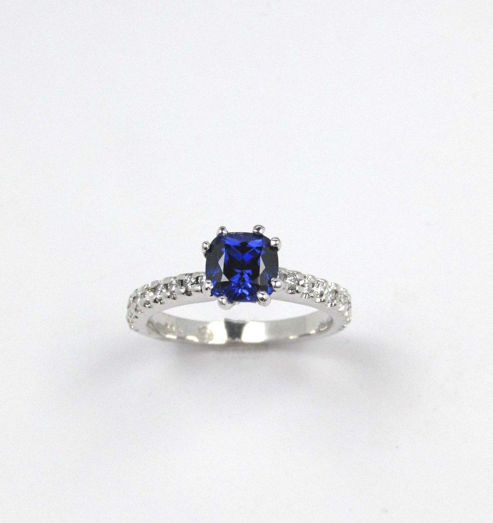 Classic Sapphire & Diamond Engagement Ring