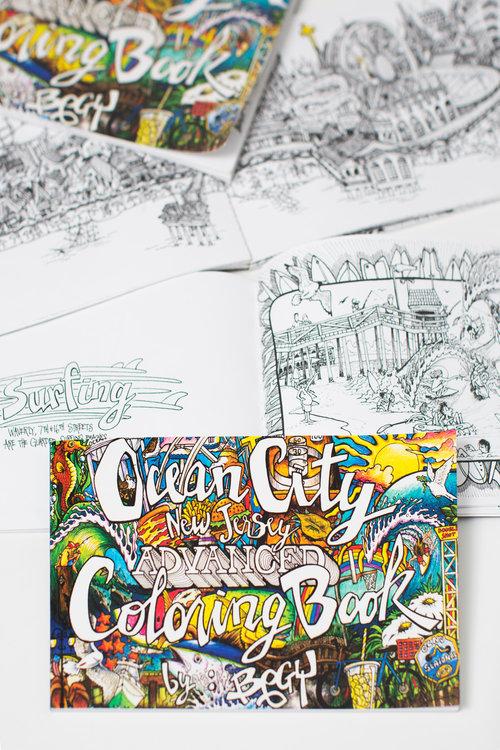 Ocean City Advanced Coloring Book — 7th Street Surf Shop | Ocean ...
