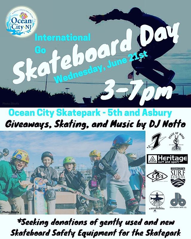 Hope to see everyone at the @oceancityskatepark tomorrow afternoon for a fun skate session. 🤘