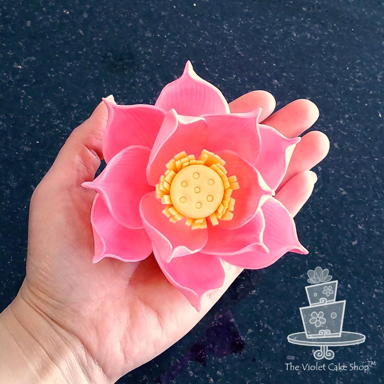 Stylized Lotus Flower Cake Fair