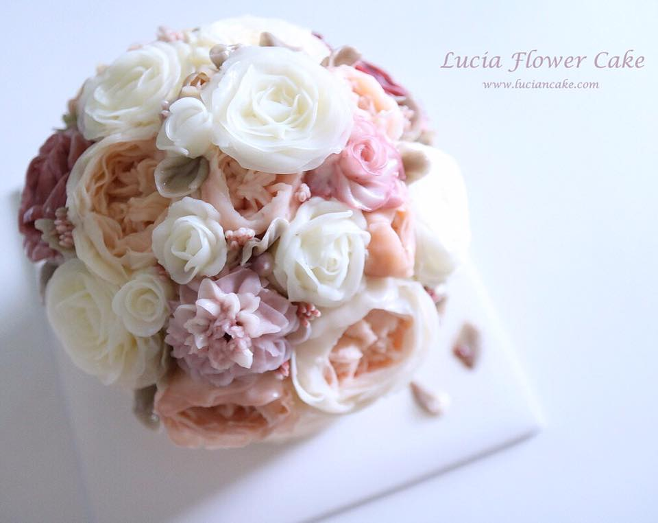 korean buttercream flowers cake fair