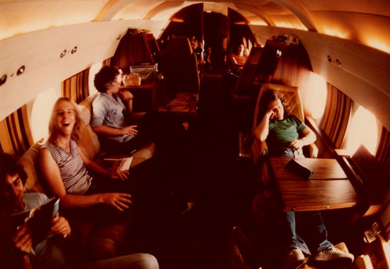 On the plane with Aerosmith