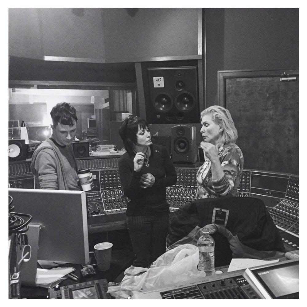 John Congleton, Debbie Harry, and Joan Jett