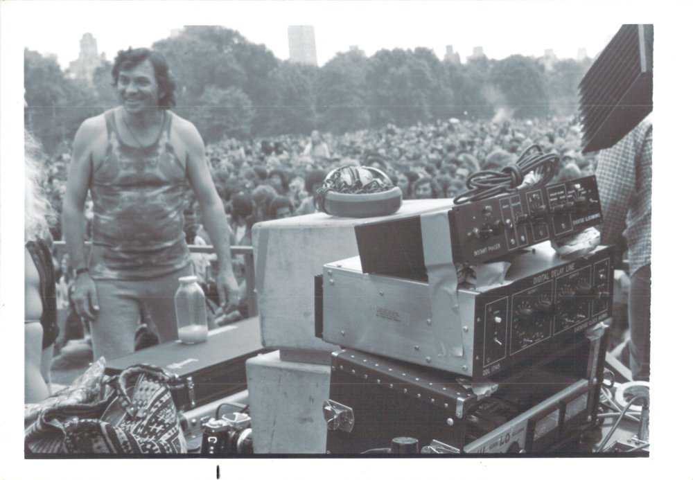 Bill Graham on JA stage with 1745 and Phaser.jpg