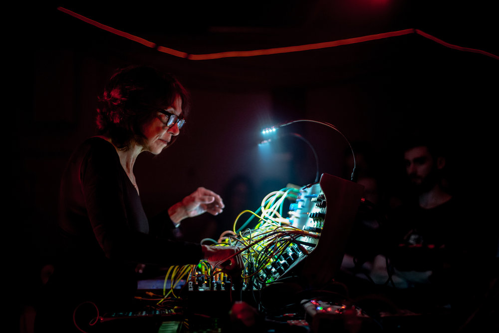 Suzanne Ciani and her Buchla synth at Red Bull Music Academy