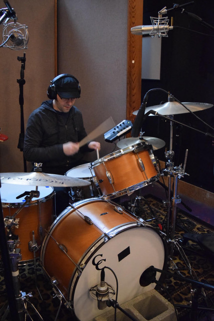 Lyle on drums