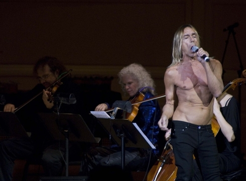 On stage with Iggy Pop