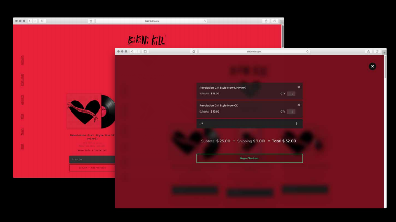 Screenshot of the CASH Music platform