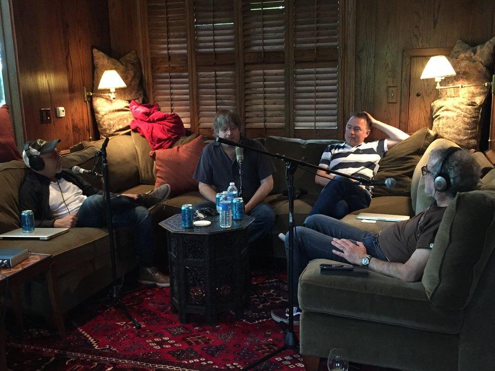 Recording the episode at SXSW