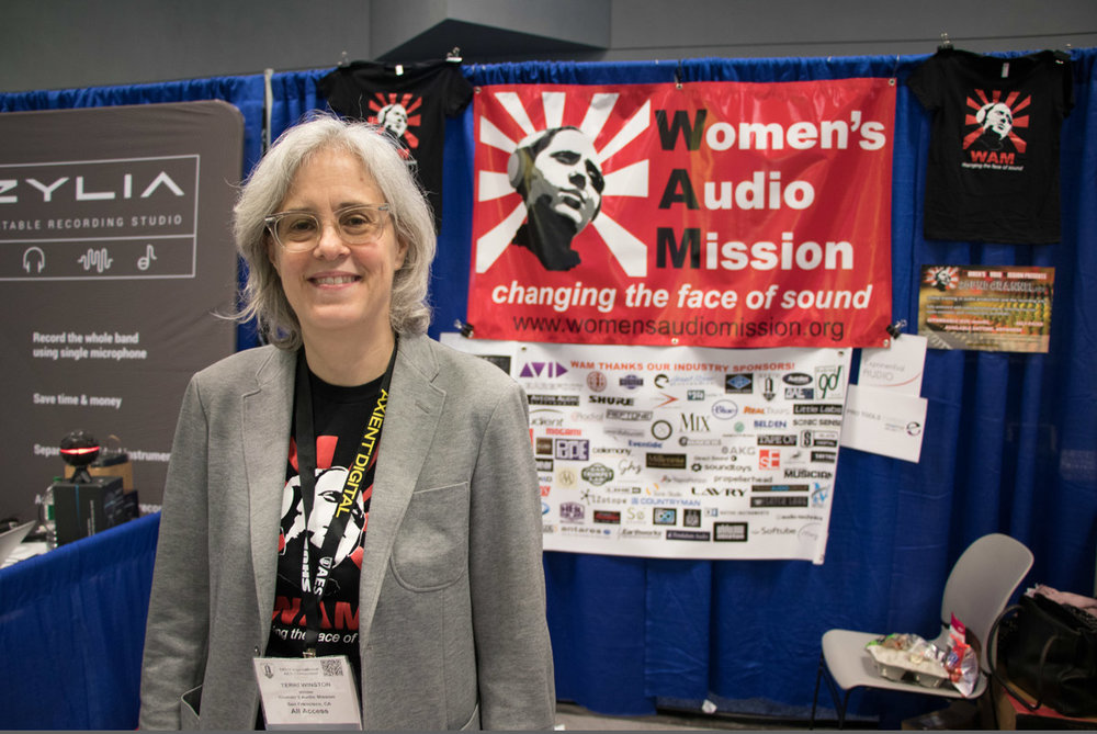 Terri at the WAM AES booth