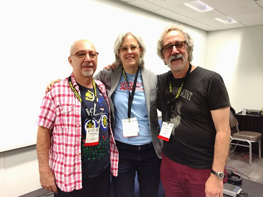 Terri with John and Stewart at AES
