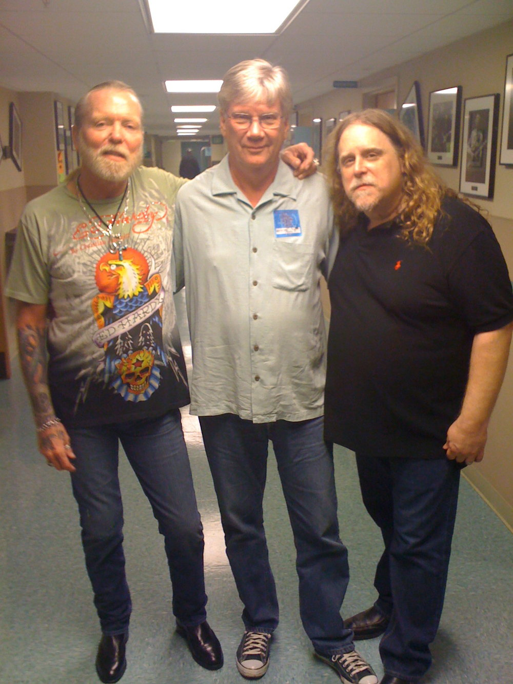 Greg Allman & Daking backstage