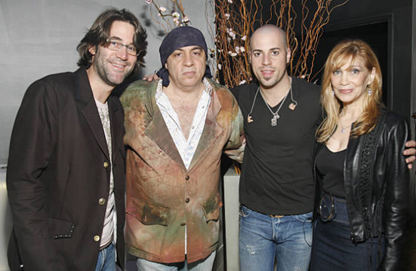 Bill, Stevie Van Zandt, Chris Daughtry, and Maureen Van Zandt