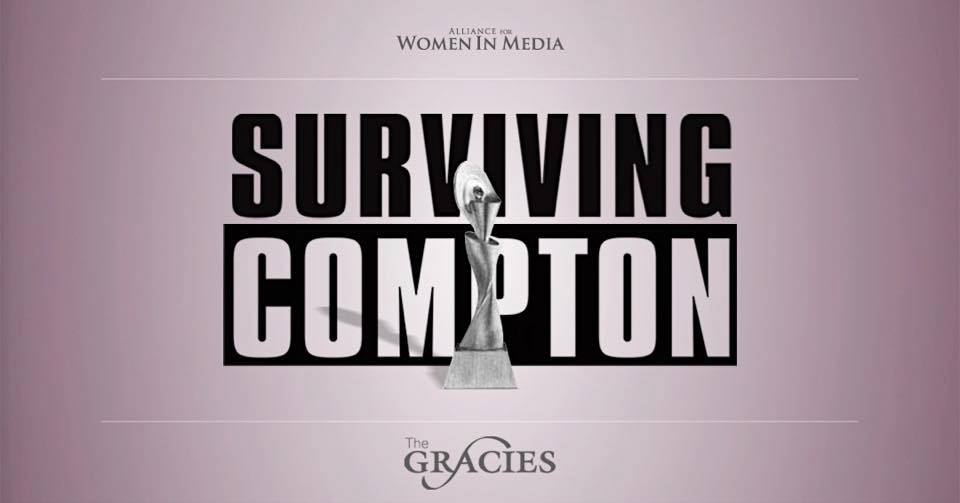"""""""Surviving Compton"""" awarded The Made for TV Movie award by Alliance for Women in Media at The GraciesAwards. Photo owned by Alliance for Women in Media"""