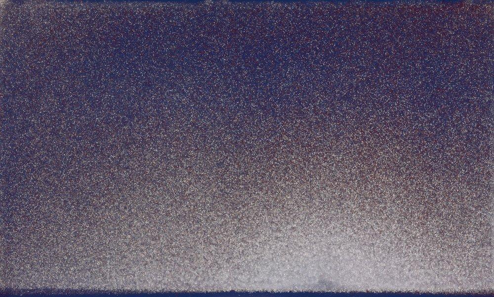 John Knuth  High Line Sky , 2016 Acrylic/Flyspeck on canvas, 36 x 60 inches  SOLD