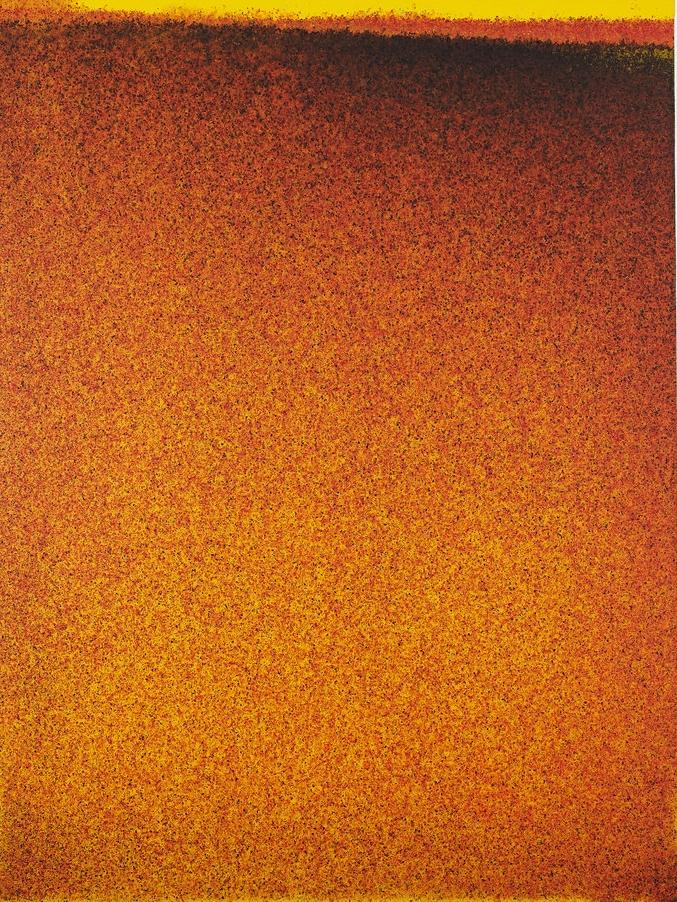 John Knuth  Elevation Burn,  2015 Acylic/flyspeck on canvas, 48 x 36 inches SOLD