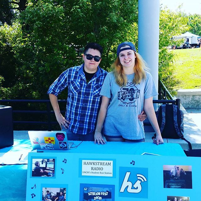Come see us in the ampitheater for the involvement carnival. Tell your friends to sign up #hawkstream #involvement