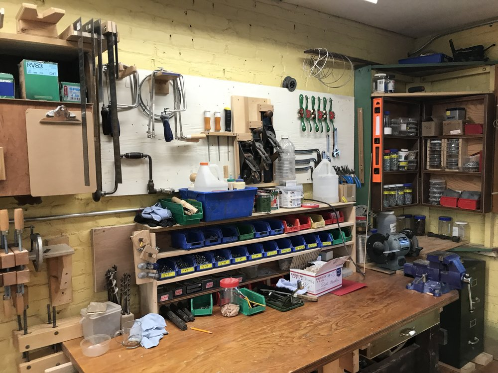 Wood shop at The Mount Academy