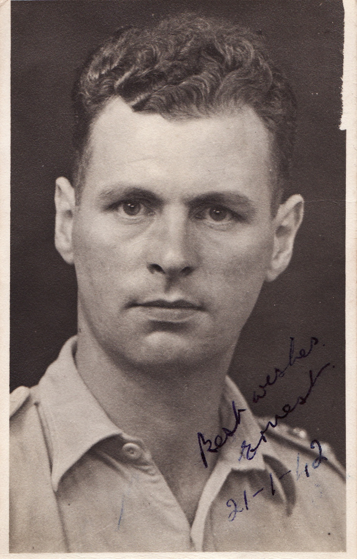 Ernest Gordon, one month before being captured by the Japanese