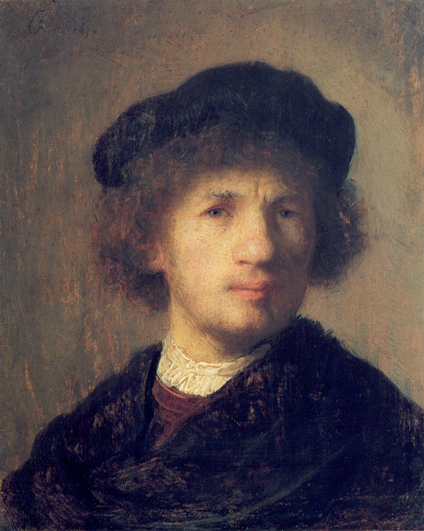 Rembrandt as a young man