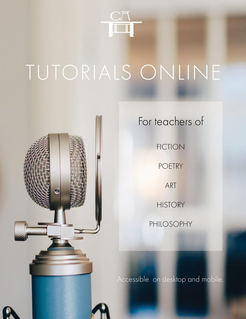 Tutorials - Boost your expertise on classic works of literature and art with this bank of Recorded Tutorials on fiction, poetry, art, history, and philosophy. Join a Live Tutorial each month. Premium and Master members have exclusive access.