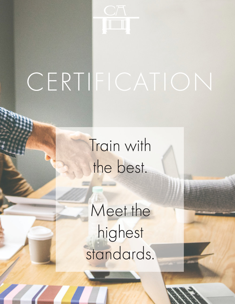 Certification - Your credentials expand with Cana Academy's Certification. Complete 4 of our Master Teacher Institute courses to qualify for certification.