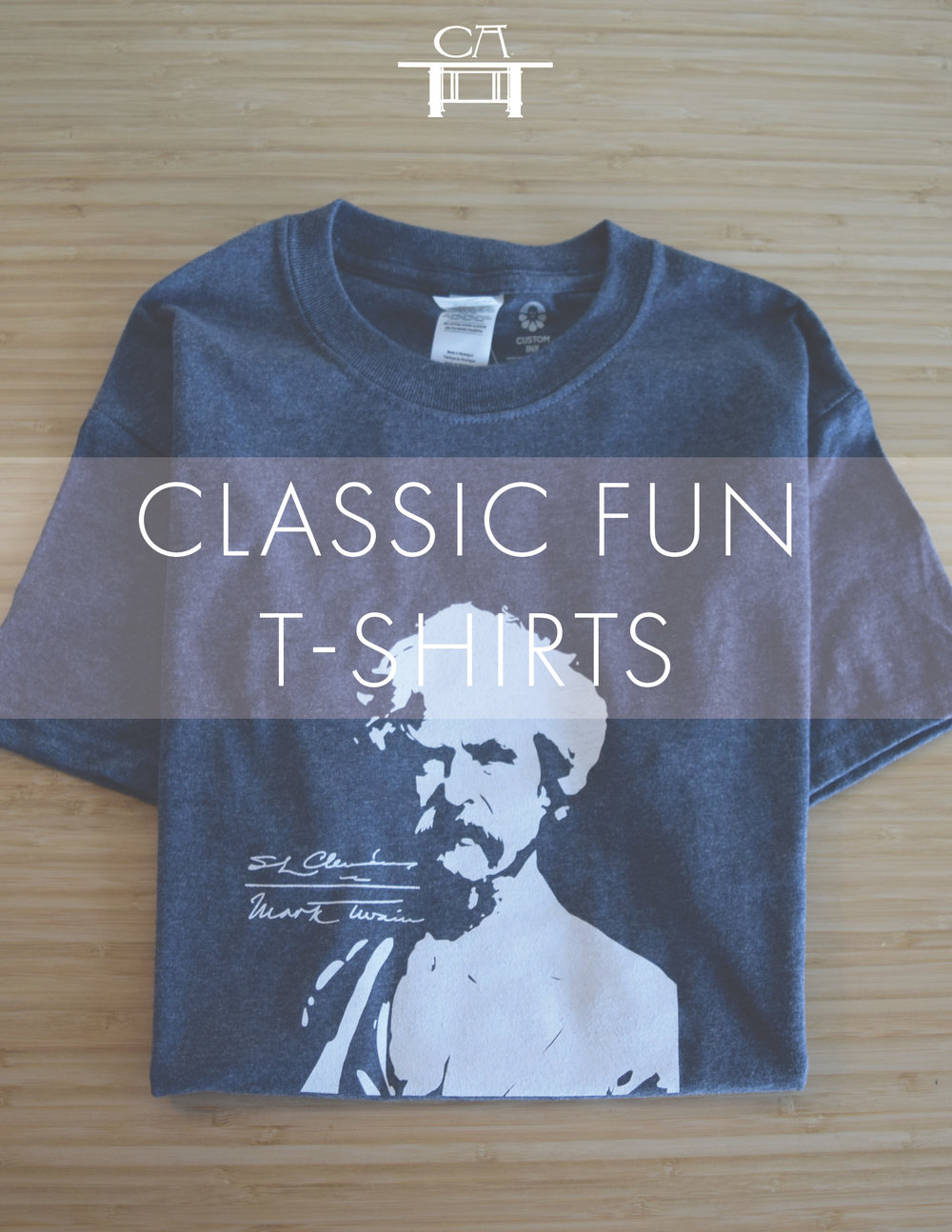 Classic Fun - If you love great literature and their authors, you will love our line of Classic Fun T-Shirts, handsomely decorated with images of some of your favorite writers. Discounted for any level of membership. $26
