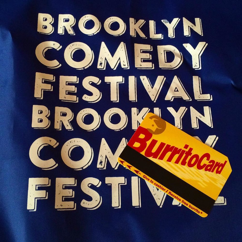 Thanks to @dostoros on Bedford Ave for feeding #BKCF performers this week! Discounts for attendees closing weekend, sign up for our #mailchimp mailing list, like us on Facebook, and follow us on Twitter for details! #burritocard (at Dos Toros)