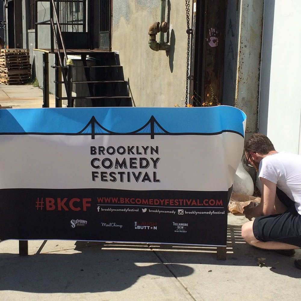 Getting ready for tonight! #BKCF @TullamoreDew #snuglife @SixpointBrewery #BrooklynComedyFestival (at Cloud City)