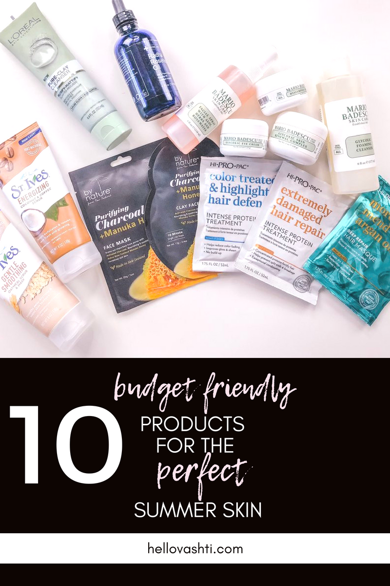 10 Budget Friendly Products for the Perfect Summer Skin | hello vashti