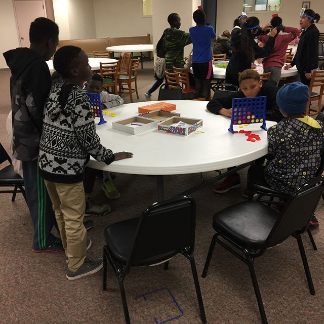 GtS youth enjoying game night at First United Methodist Church!