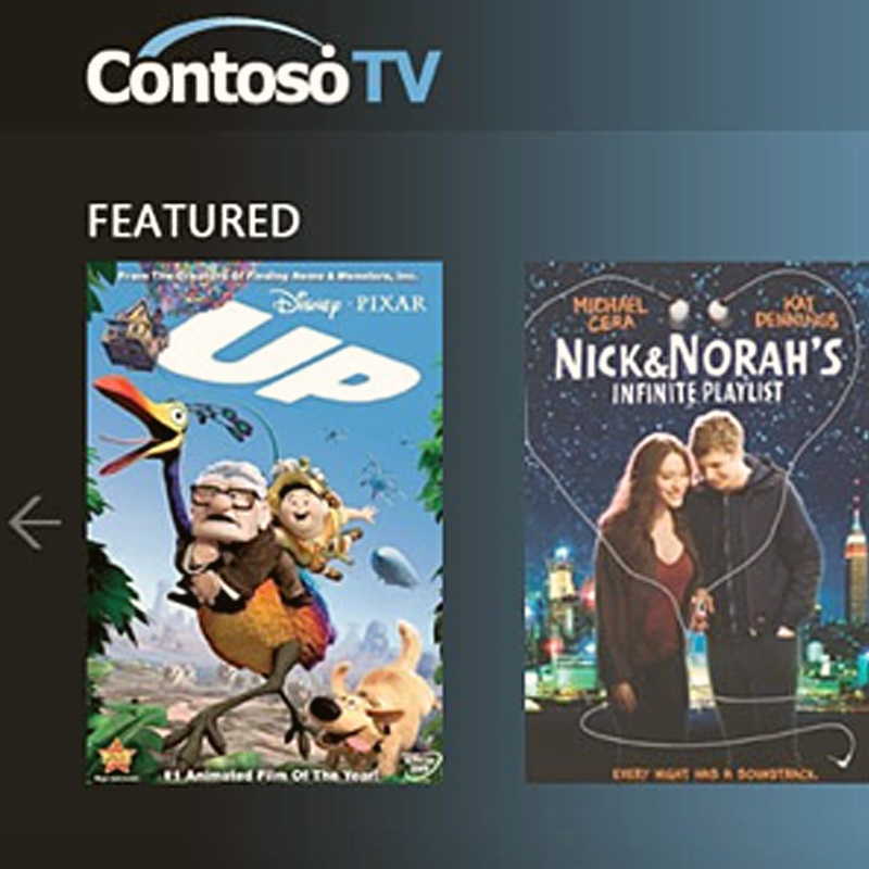 ContosoTV (Microsoft):  Web Application