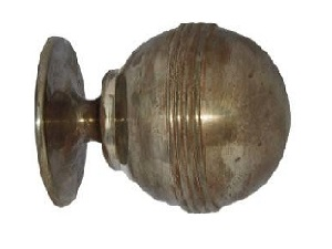 REEDED METAL BALL FINIAL