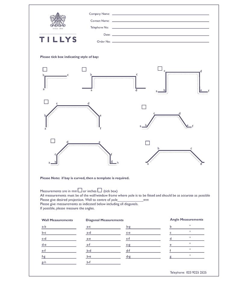 Bay Measure Sheet