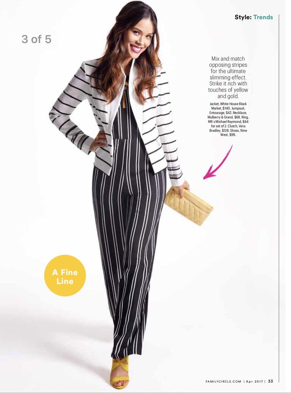 Family Circle Magazine Fashion Shoot April 2017 Issue