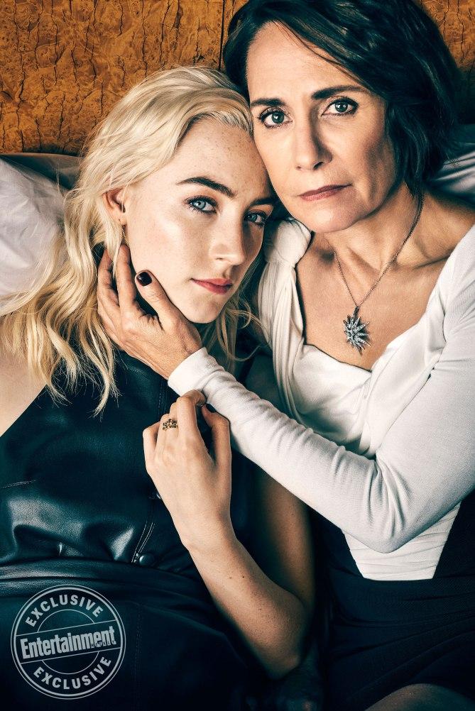 Saoirse Ronan & Laurie Metcalf EW Magazine
