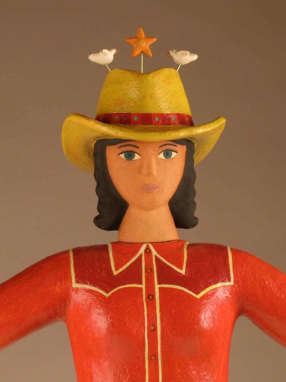 "cowgirl   $2400   28 x 14 x 4"""