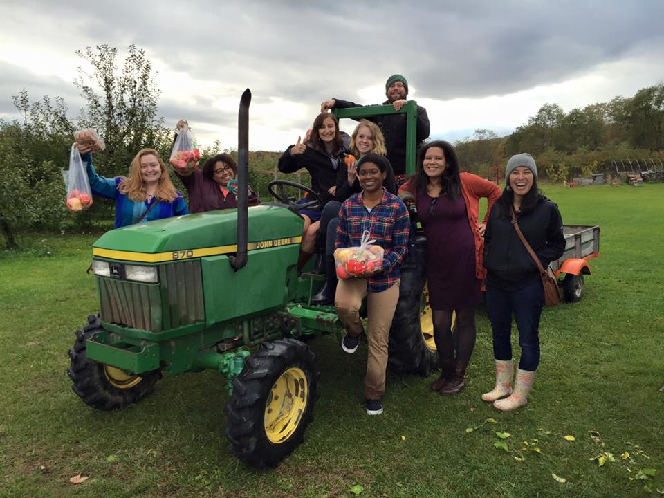 Apple picking at Middlefield Orchard is a favorite fall activity