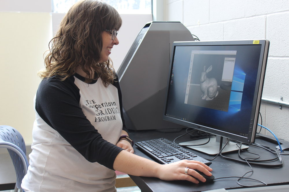Student Mikaela ('17) uses state-of-the-art technology that allows CGP students to create compelling digital projects