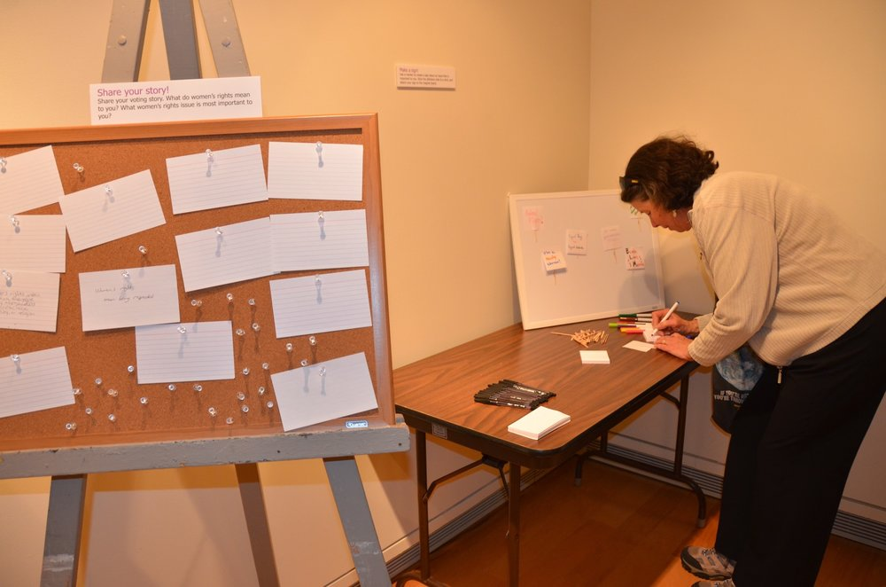 "Interactives for ""Conversations: Local Voices on Women's Suffrage."""